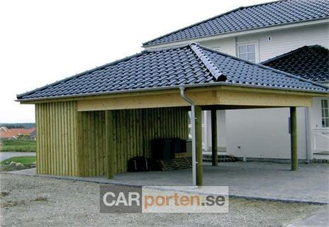 Ritning garage med platt tak